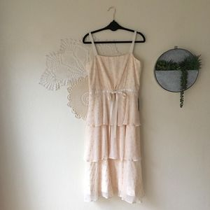 Gal Meets Glam Dresses - Gal Meets Glam Florence tiered chiffon dot dress